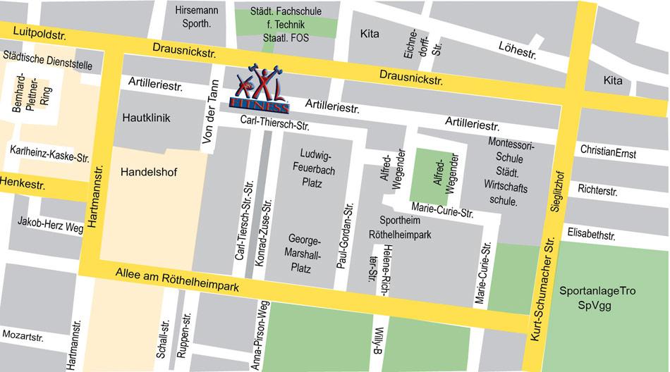 Xxl Fitness Erlangen Artilleriestr 54 56 91052 Erlangen